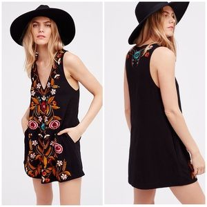 Free people Folk Song Mini Embroidered Dress s
